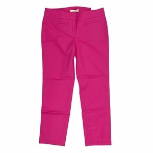 NWT LOFT Marisa Skinny magenta pink dress pants